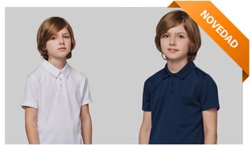 Polos publicitarios infantiles, para personalizar con tu logo tipo o marca personal.