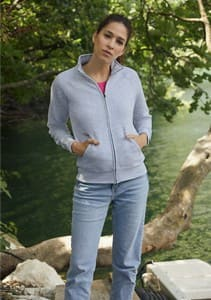 CHAQUETA DE MUJER DE FELPA REF 621160 FRUIT OF THE LOOM