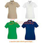 POLO DE MUJER PREMIUM REF 630300 FRUIT OF THE LOOM