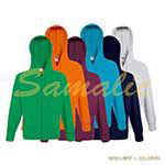 SUDADERA LIGERA CON CAPUCHA Y CREMALLERA REF 621440 FRUIT OF THE LOOM